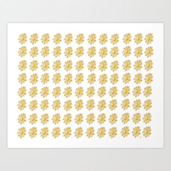 Golden Daisy Art Print