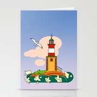 lighthouse Stationery Cards featuring Lighthouse by LaDa