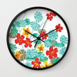 Nasturtiums Wall Clock