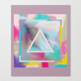 Rose Triangle Manifestation Canvas Print