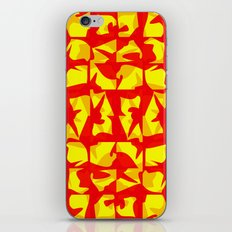 red shapes iPhone & iPod Skin