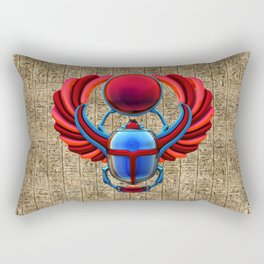 Colorful Egyptian Scarab Rectangular Pillow