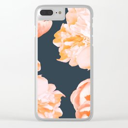 Peach Colored Flowers Dark Background #decor #society6 #buyart Clear iPhone Case