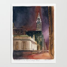 Grand Central Station and the Chrysler Building II Poster