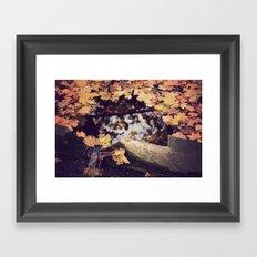 WATER LEAVES Framed Art Print