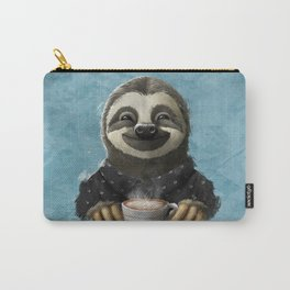 Sloth smilling with coffee latte Carry-All Pouch
