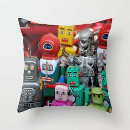 Robots & The Terminator Throw Pillow