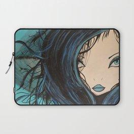 My Mermaid. Original Painting by Jodilynpaintings. Figurative Abstract Pop Art. Laptop Sleeve