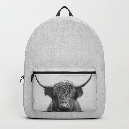 Highland Cow - Black & White by galdesign