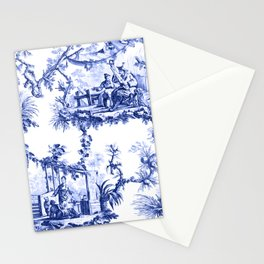 Blue Chinoiserie Toile Stationery Cards