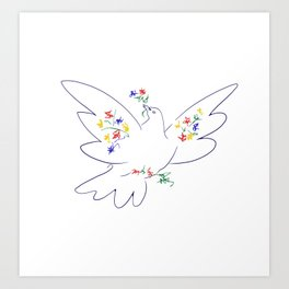 Picasso's Dove Art Print