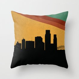Corpus Christi Skyline Throw Pillow