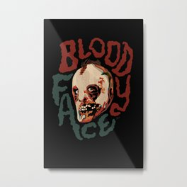 Bloody Face Metal Print