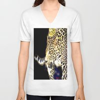 hunting V-neck T-shirts featuring Hunting by arnedayan