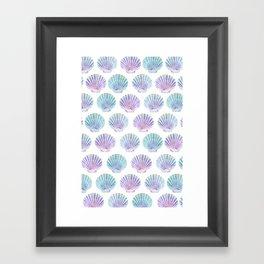 iridescent shells pattern Framed Art Print
