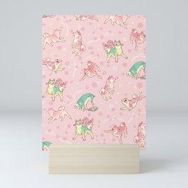 Shibakura & Matchinu in strawberry Mini Art Print