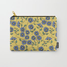 Floral Wisps Carry-All Pouch