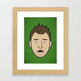 Faces of Breaking Bad: Jesse Pinkman (Early) Framed Art Print