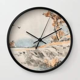 Autumn Birds Traditional Japanese Landscape Wall Clock