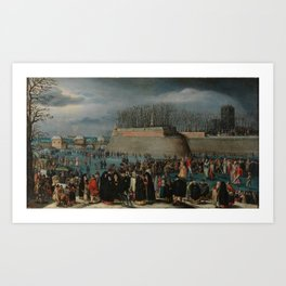 ALSLOOT, DENIS VAN Malinas, 1570 - Bruselas, 1628 Skating Masquerade, or Carnival on Ice at the Kipd Art Print