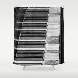 Black & White Piano Shower Curtain