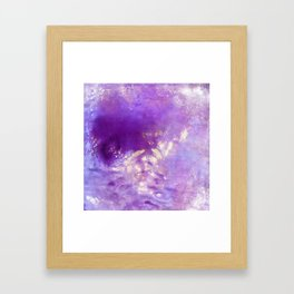 abstract in purple Framed Art Print