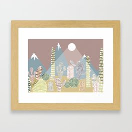Cactus Valley Framed Art Print