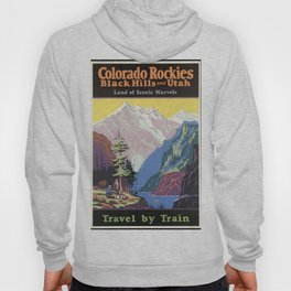 Colorado Mountains, Black Heels and Utah - Vintage Poster Hoody