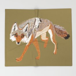 Totem Coyote Throw Blanket
