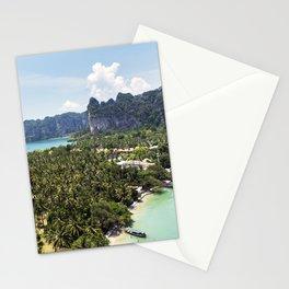 Railay Bay - Rai Leh Beach, Krabi Thailand  -  Tropical Paradise Stationery Cards