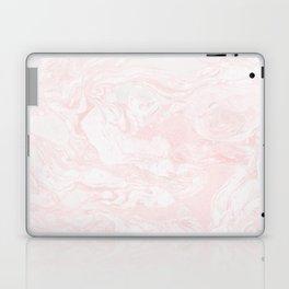 Pink Rose Gold Marble Print II Laptop & iPad Skin
