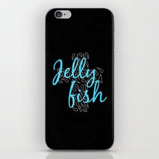 Jellyfish Cross Black iPhone & iPod Skin