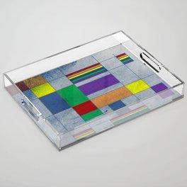 Mid-Century Modern Art - Rainbow Pride 1.0 Acrylic Tray