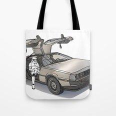 Stormtroooper in a DeLorean - star wars Tote Bag