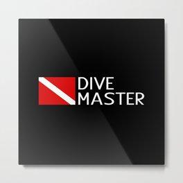 Diving: Diving Flag & Dive Master Metal Print