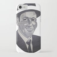 frank sinatra iPhone & iPod Cases featuring Frank Sinatra -- Ol' Blue Eyes by Bradlee254