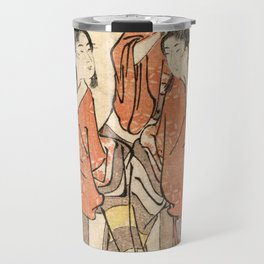Going to a Sumo Match Travel Mug