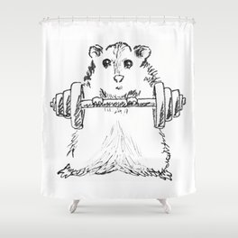 Hamster Workout Shower Curtain