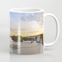 prague Mugs featuring Prague by Barrettish