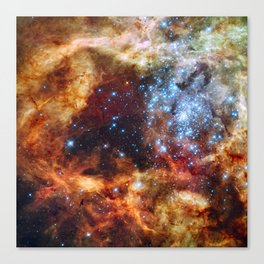 Grand star-forming region R136 in Tarantula Nebula  (NASA/ESA/Hubble) Canvas Print