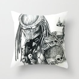 Predator. Throw Pillow