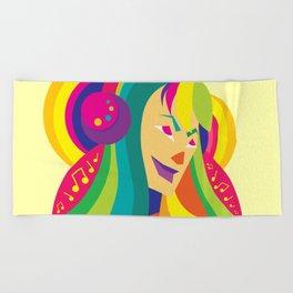 Happy Music - Joy of Life Beach Towel