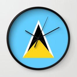 Saint Lucia country flag Wall Clock