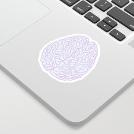 Pastel Brain Sticker