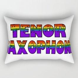 Rainbow Tenor Saxophone Rectangular Pillow