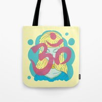 om Tote Bags featuring Om by Monstruonauta