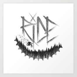 Forest Ride Art Print