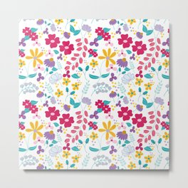 field of flowers by adriana carusi-diliberto Metal Print