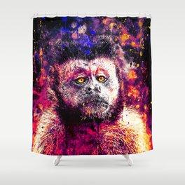 bored monkey wslsh Shower Curtain