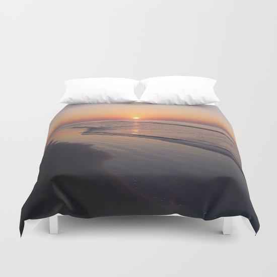 Sunrise Over The Atlantic Ocean Duvet Cover
